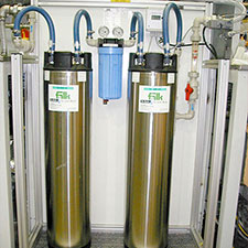 Ion exchanger for demineralised water recycling